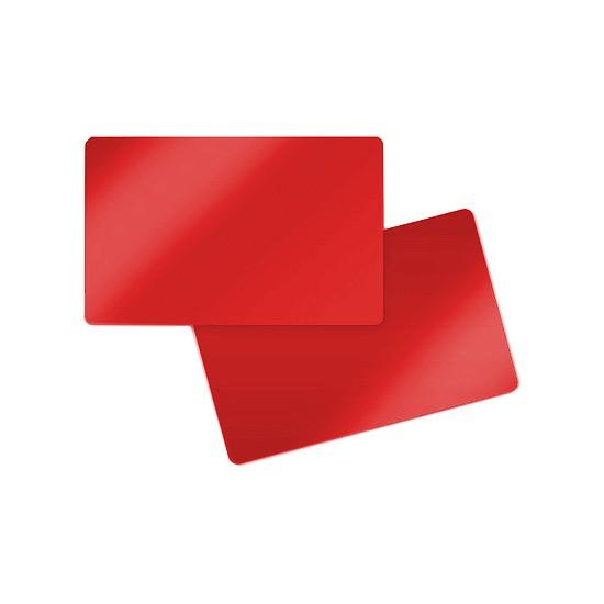 Plastic Kaart rood Blanco 0,76mm