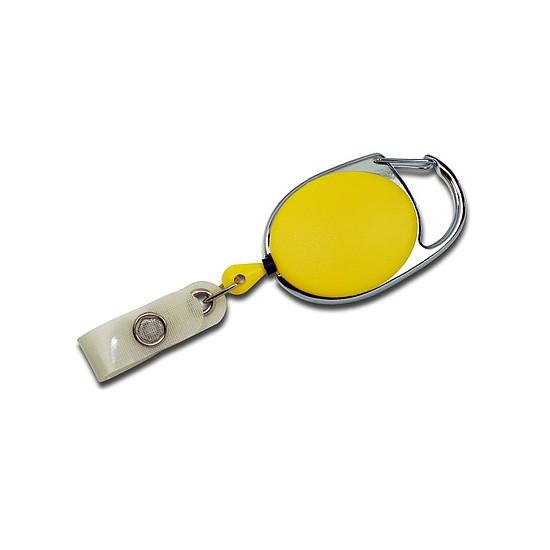 Kaarthouder Jojo geel ovaal