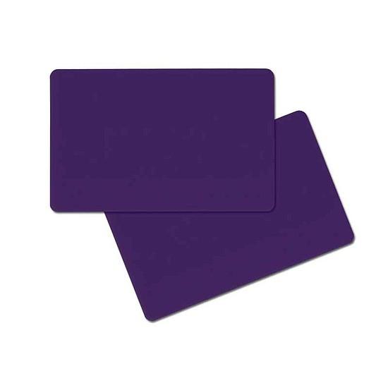 Plastic Kaart paarsBlanco 0,76mm-Copy