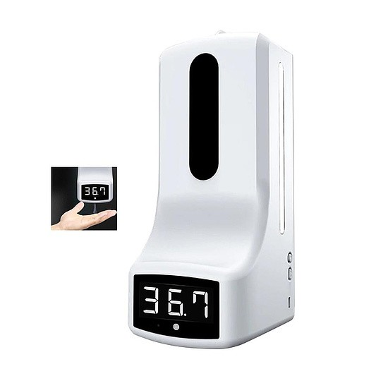 Elektronische desinfectieautomaat met sensor en temperatuurweergave