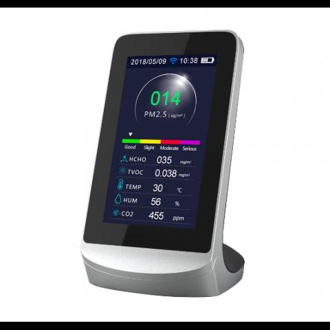 Wi-Fi desktop CO2-monitor voor controle van de luchtkwaliteit
